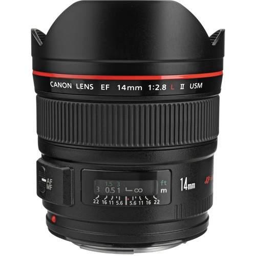 Lente Canon EF 14mm - F/2.8L II USM Grande Angular *