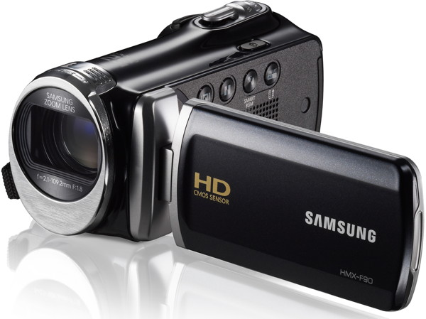 Filmadora Samsung HMX-F90 HD - Sensor CMOS, Zoom Óptico 52x, Vídeo Full HD, Tela de 2.7´