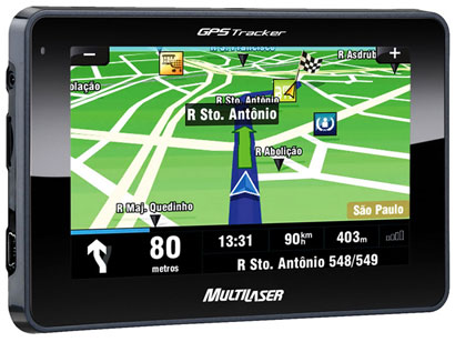 GPS Multilaser Tela 4,3´  Alerta de Radar Fixo + Mapas 3D (GP011)