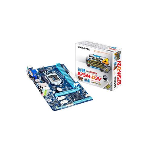 Placa Mãe Intel GigabiteGA-B75M-D2V LGA 1155 -  DDR3 DIM, USB, BIOS, Dual Channel, Frequência até 1.600MHz, PCI Express x16