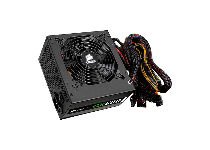 Fonte Corsair 600W Real CX600 - 80 Plus Bronze - PFC Ativo
