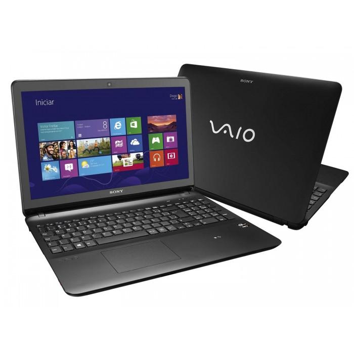 Notebook Sony Vaio Ultrafino SVF15-A18CXB Intel Core i7 2.0GHZ (3ª Geração), Memória 12GB, HD 1TB + SSD 8GB, DVD-RW, Tela LED 15.6´ FULL HD, TOUCHSCREEN, Placa de Vídeo GEFORCE GT735M 2GB DEDICADO, Wi