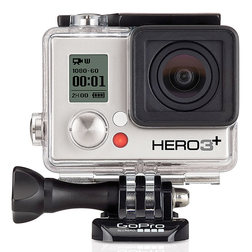 Câmera Filmadora GoPro Hero 3 + Silver Edition - Full HD 1080p@60fps, Prova d'água até 40m, Até 10 disparo por segundo, Conexão Wi-Fi