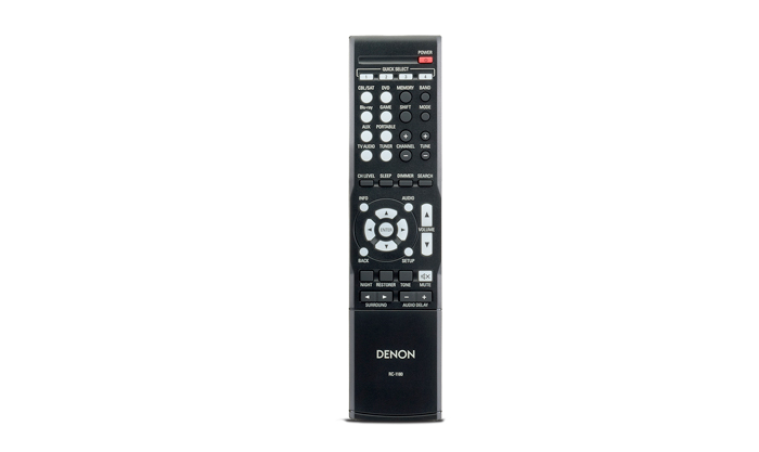Receiver Denon multi-canal AVR-E200BR - 5.1 Canais, 1080p, 3D, 4x HDMI