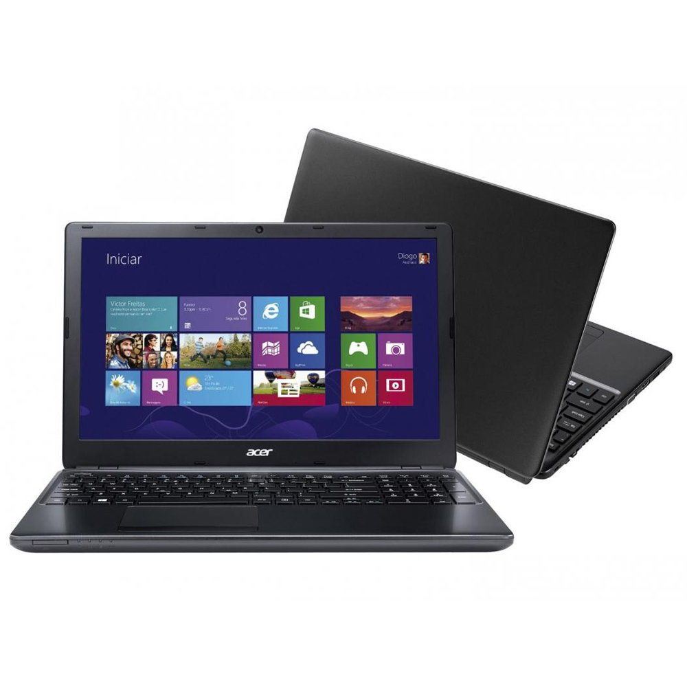 Notebook Acer Aspire E1-572-BR800 - Intel Core i3, Memória de 4GB, HD 500GB, Windows 8.1, Tela 15.6 (showroom)