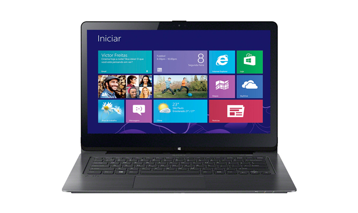 Notebook Sony Vaio Ultrafino Conversível 2 em 1 Multiflip, Core i5 (4ª geração), mem. 8GB, HD 750GB,  LED Full HD 14´ TOUCHSCREEN