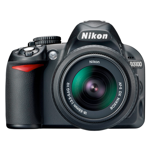 Câmera Digital Nikon SLR D3100 + Lente 18-55mm - 14.2MP, Sensor CMOS DX, Vídeo Full HD, HDMI, 3 QPS, GPS, Tela de 3
