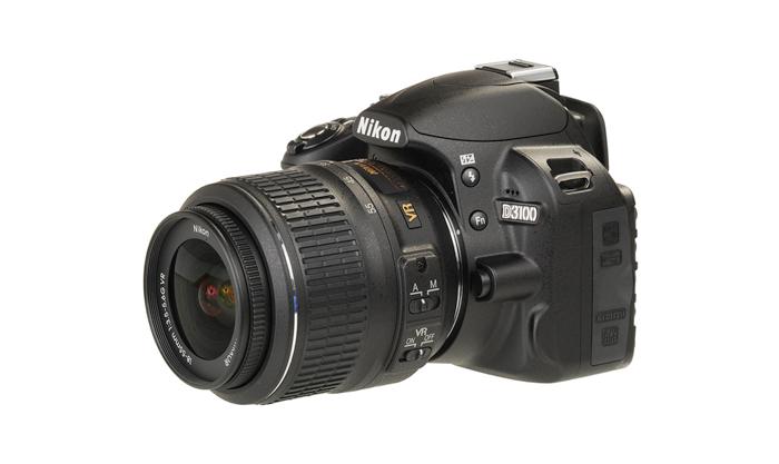 Câmera Digital Nikon SLR D3100 + Lente 18-55mm - 14.2MP, Sensor CMOS DX, Vídeo Full HD, HDMI, 3 QPS, GPS, Tela de 3