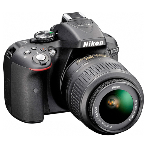 Câmera Digital Nikon SLR D5300 + Lente 18-55mm - 24,2MP, Sensor CMOS DX, Vídeo Full HD, D-Lighting, Wi-Fi, GPS, 5 QPS, Tela Rotativa 3""