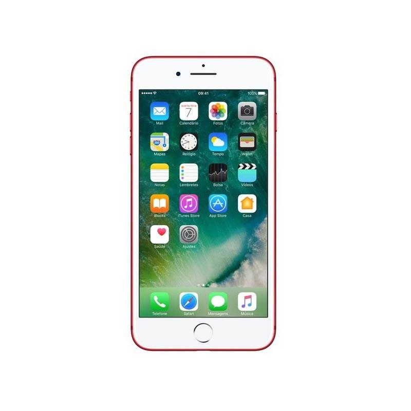 Apple iPhone 7 Plus - 128GB, Câmera iSight de 12MP, Gravação de Vídeo 4k, Tela Retina HD, Touch ID, Chip 10 – Red Edição Especial