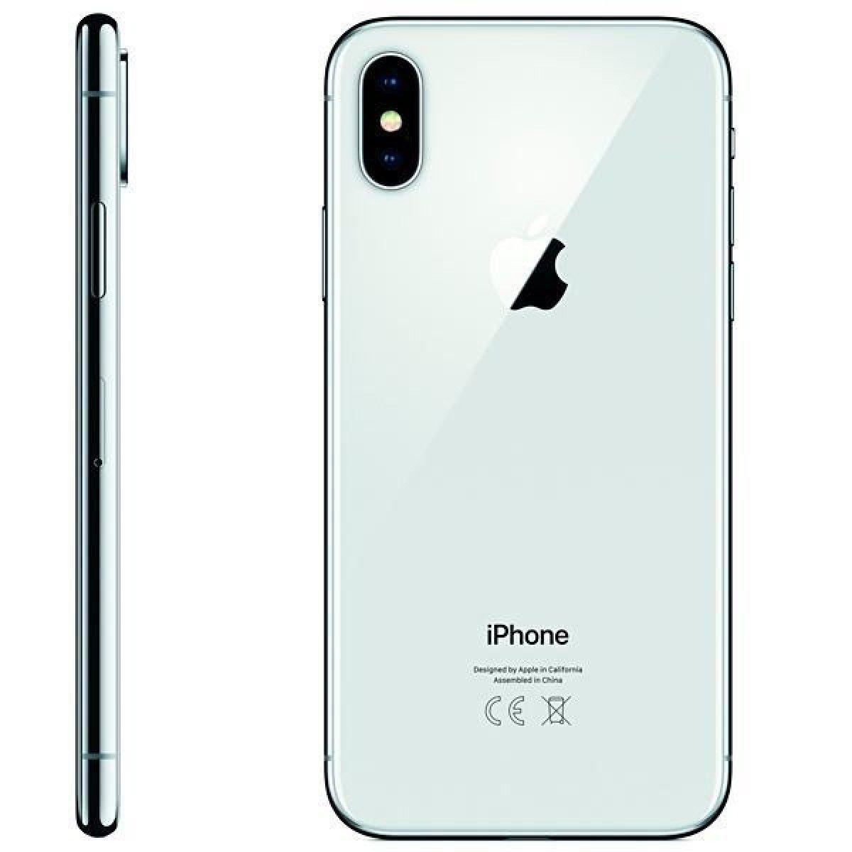 "Apple iPhone X - 256GB, Tela Super Retina de 5.8"", Face ID, Câmera Dupla de 12MP, Recarga sem fio - Prata"