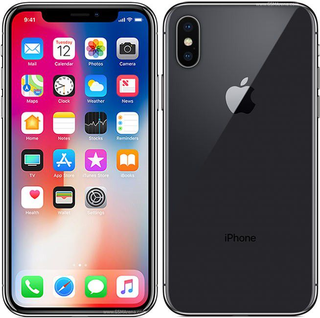 "Apple iPhone X - 64GB, Tela Super Retina de 5.8"", Face ID, Câmera Dupla de 12MP, Recarga sem fio - Preto"