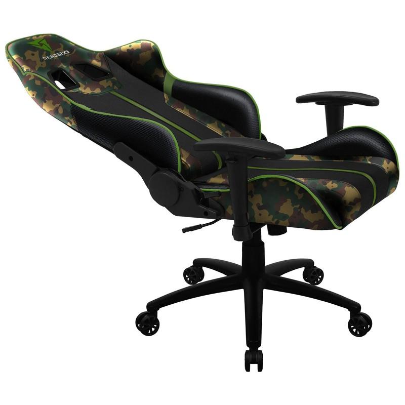 Cadeira Gamer BC3 Military ThunderX3 Camuflado verde militar