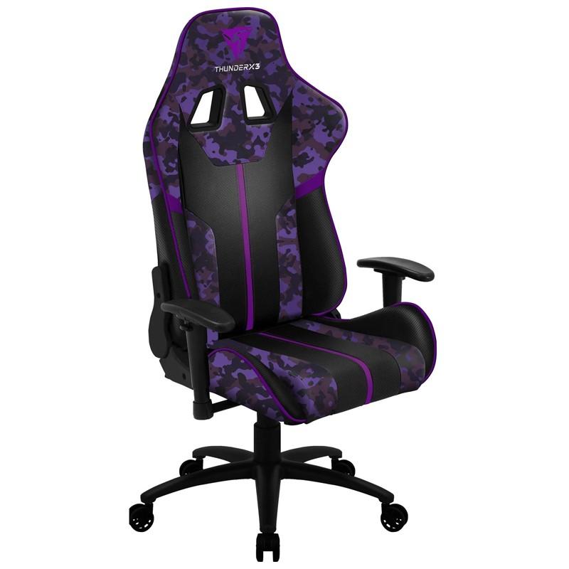 Cadeira Gamer BC3 Ultra Violet ThunderX3 Camuflado roxo