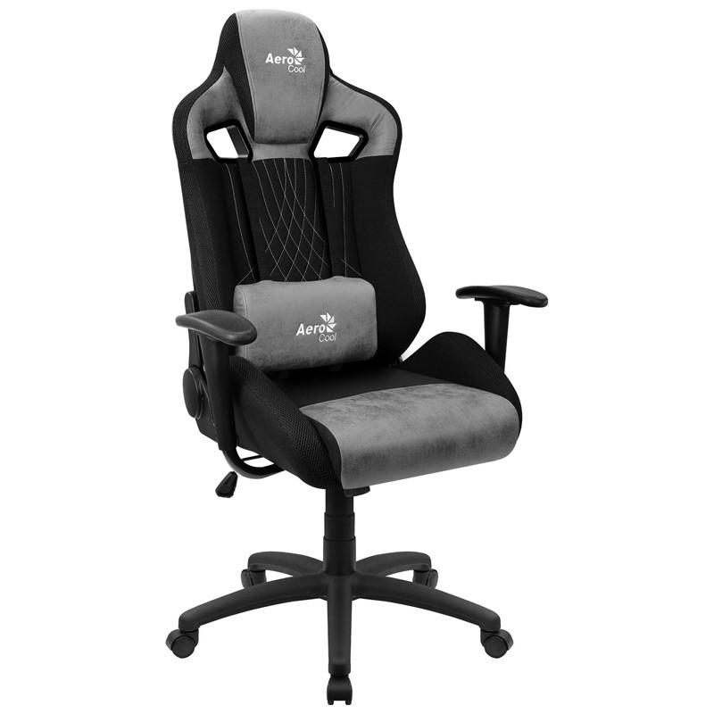 Cadeira Gamer Earl Stone Grey Aerocool Preta/Cinza