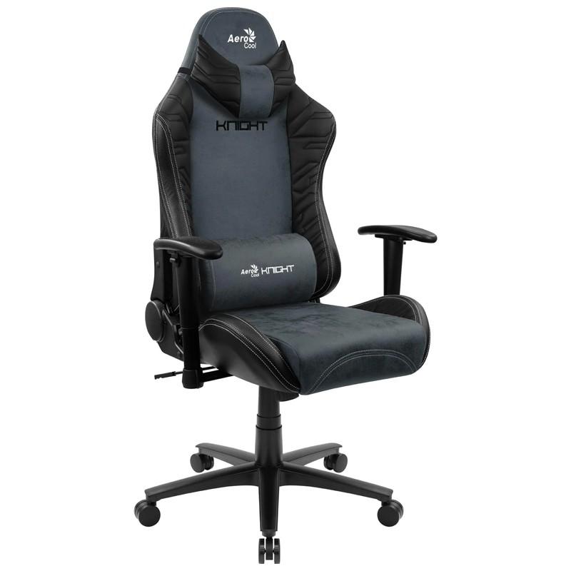 Cadeira Gamer Knight Steel Blue Aerocool Preta/Azul