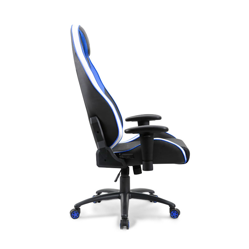 Cadeira Gamer PCTop Premium 1020 Azul+Branco+Preto