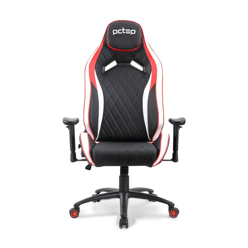 Cadeira Gamer PCTop Premium 1020 Vermelho+Branco+Preto