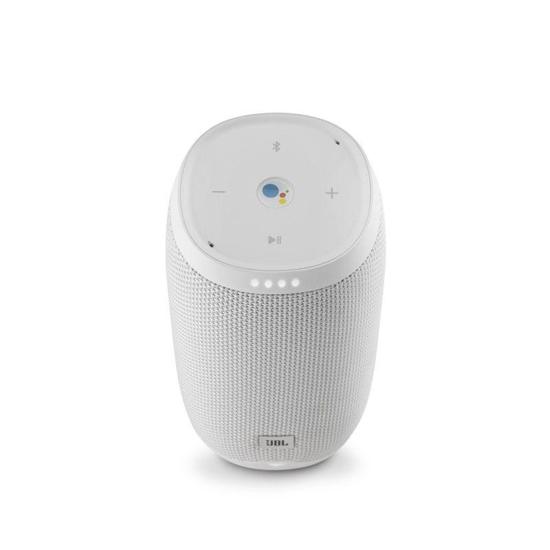 Caixa de Som JBL Link 10 – Ativado por voz, Assistente Google, Bluetooth, Wifi - Branca