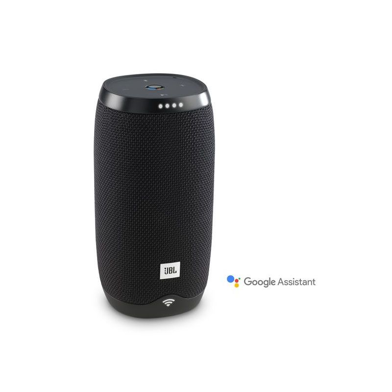 Caixa de Som JBL Link 10 – Ativado por voz, Assistente Google, Bluetooth, Wifi - Preta