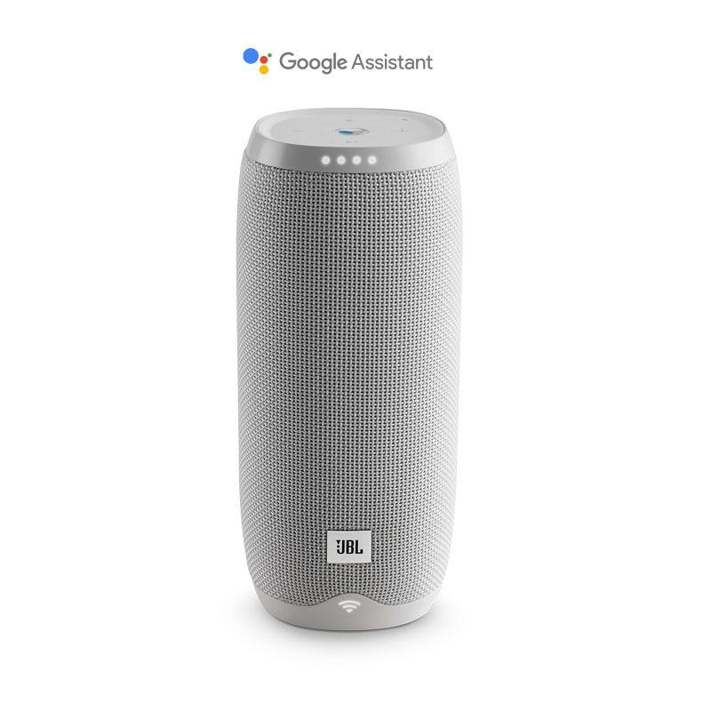 Caixa de Som JBL Link 20 – Ativado por voz, Assistente Google, Bluetooth, Wifi - Branca