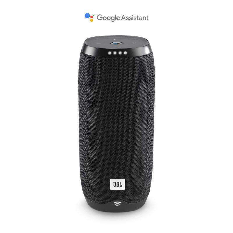 Caixa de Som JBL Link 20 – Ativado por voz, Assistente Google, Bluetooth, Wifi - Preta