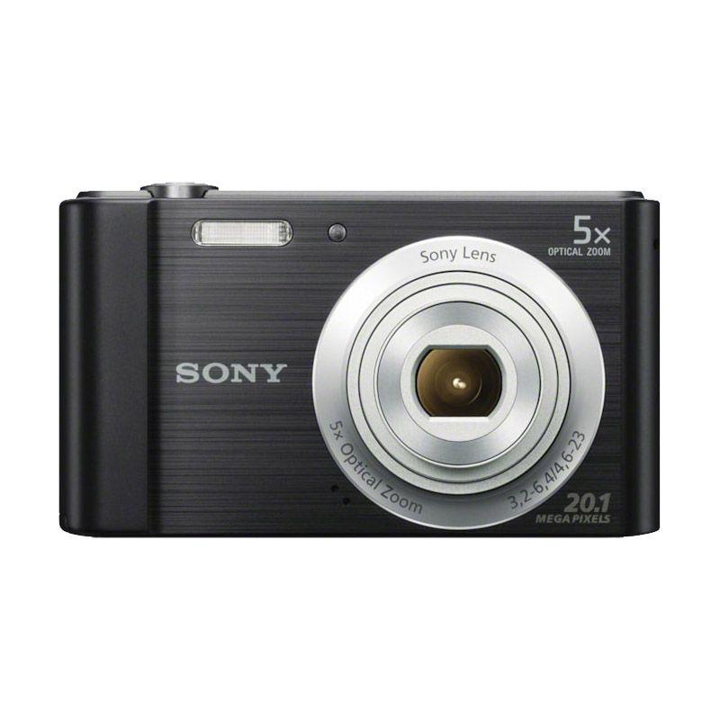 Câmera digital Sony W800 - 20.1MP, vídeos HD, fotos panorâmicas – Preta