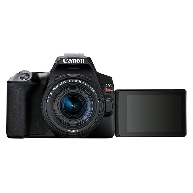 Câmera DSLR Canon EOS Rebel SL3 4K com Lente EF-S 18-55mm IS STM