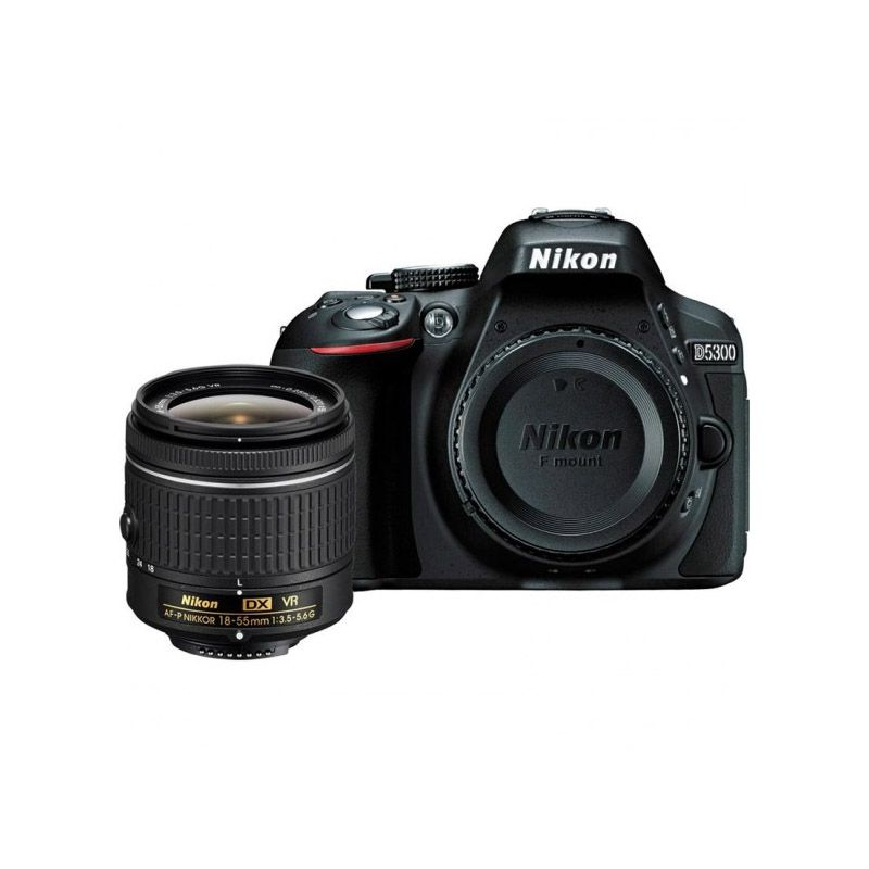 Câmera Nikon D5300 - af-p Dx,  18-55mm Vr, 24.2mp, FHD, Wi-fi