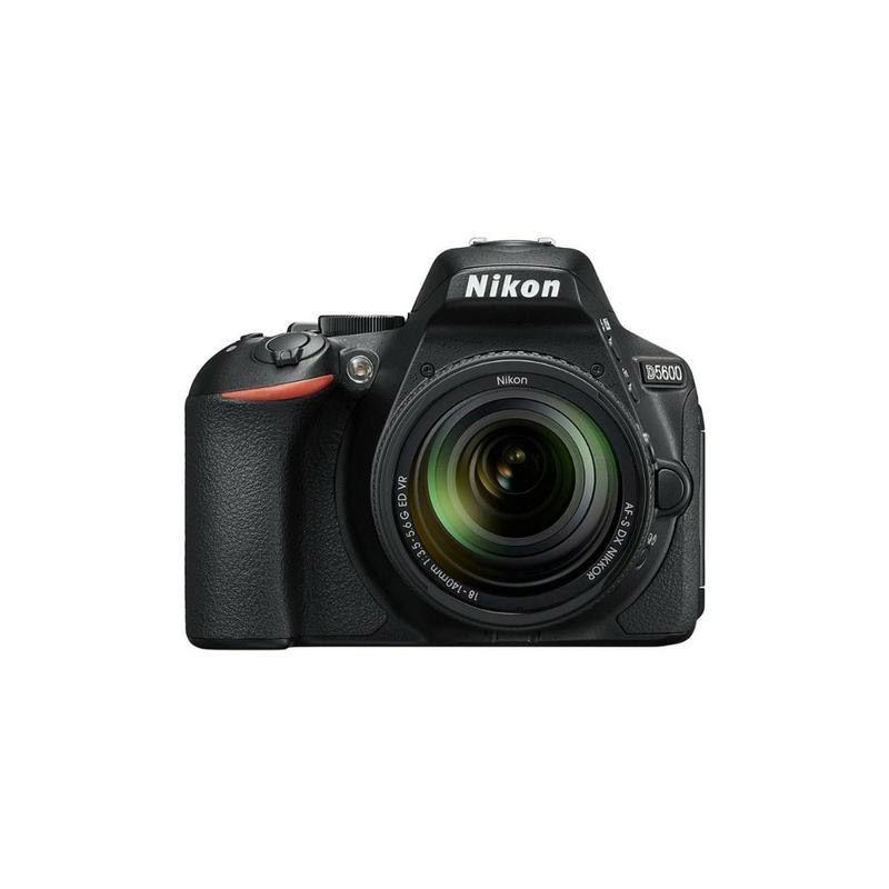 "Câmera Nikon D5600 + Lente DX 18-140mm - 24.2MP, Full HD, Tela LCD de 3.2"" Touch"