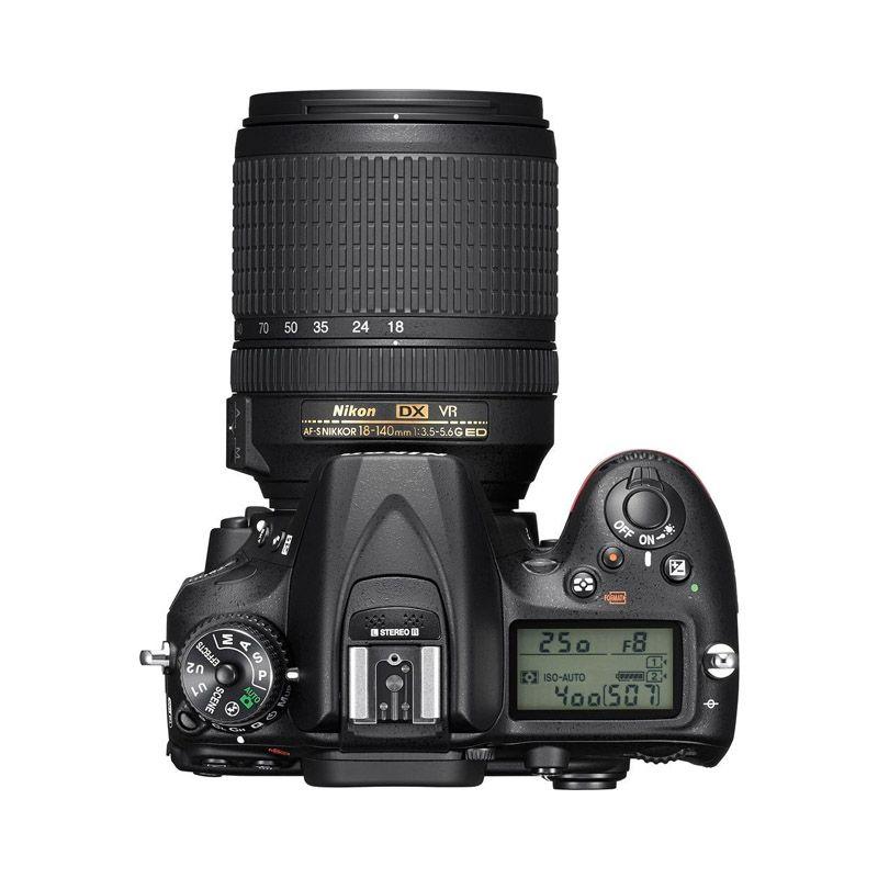 Câmera Nikon D7200 + Lente 18-140mm - 24MP