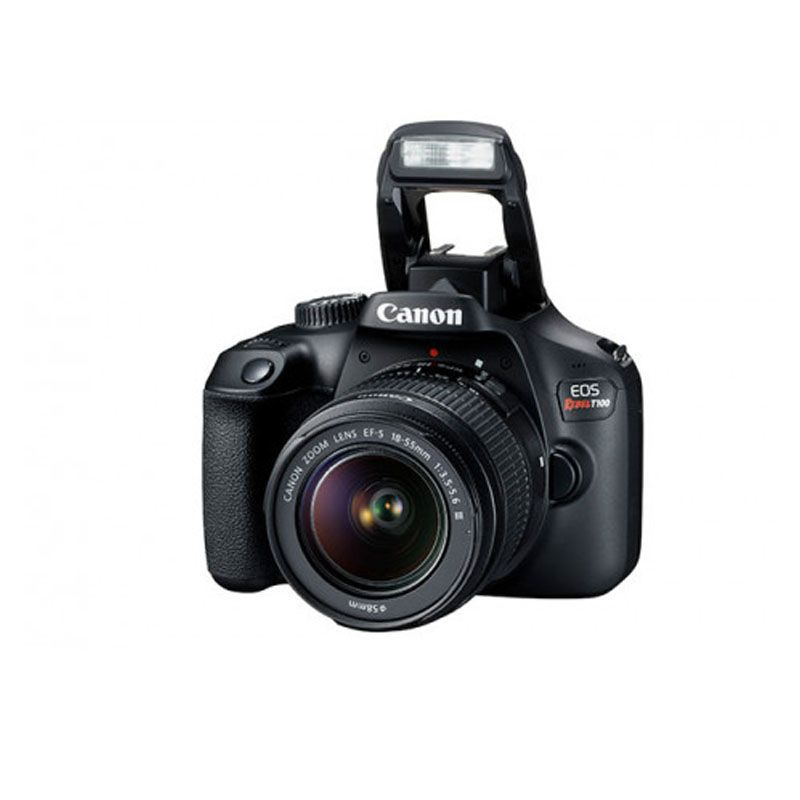 "Canon Rebel T100 + Lente 18-55mm - 18MP, Full HD, LCD 2.7"""