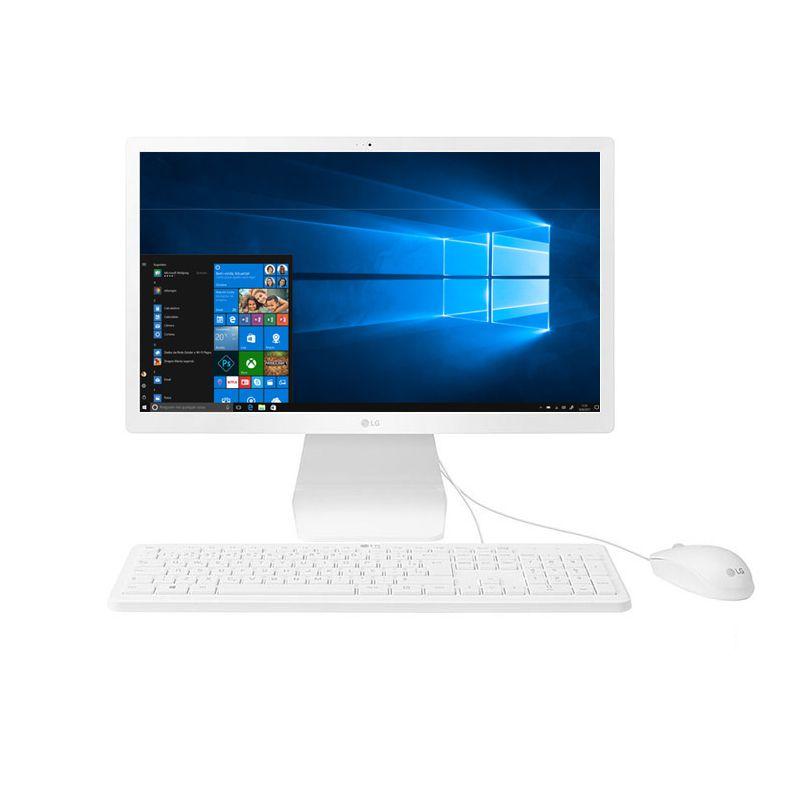 "Computador All in One 22"" LG - Intel Quad-core, 4GB, SSD 120GB, Tela 21,5"" Full HD, Windows 10 AiO"
