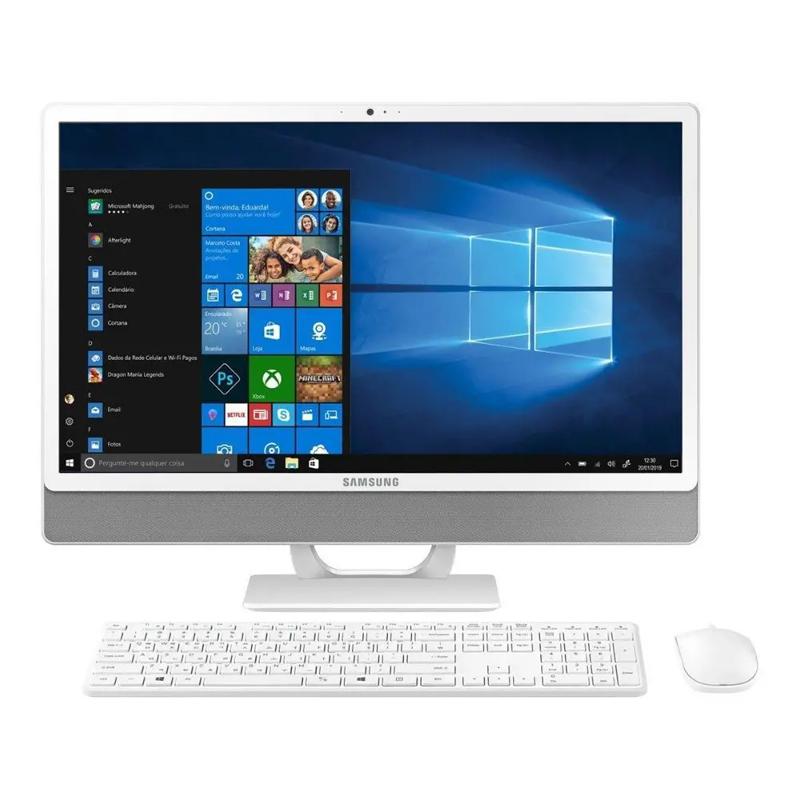 "Computador All in One 23.8"" Samsung DP530 Intel Core i3 8ªG, 4GB, HD de 1TB, Tela Full HD, Windows 10"