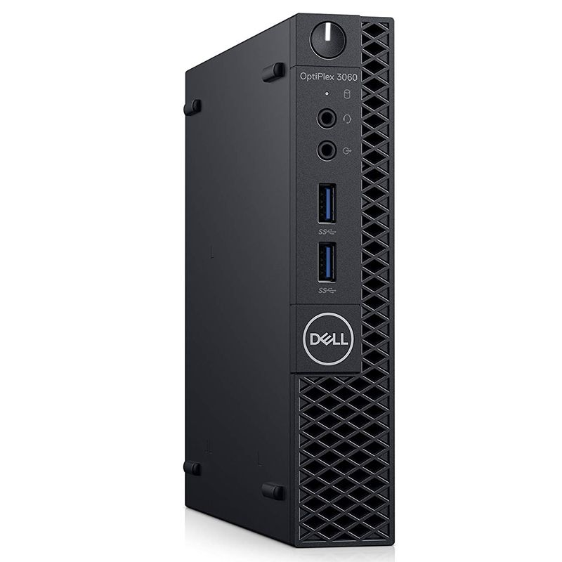 """Computador Dell OptiPlex 3060 Micro - Intel Core i3 8ªG, 4GB, SSD 120GB + HD 500GB, Monitor 18.5"""", Teclado e Mouse"""