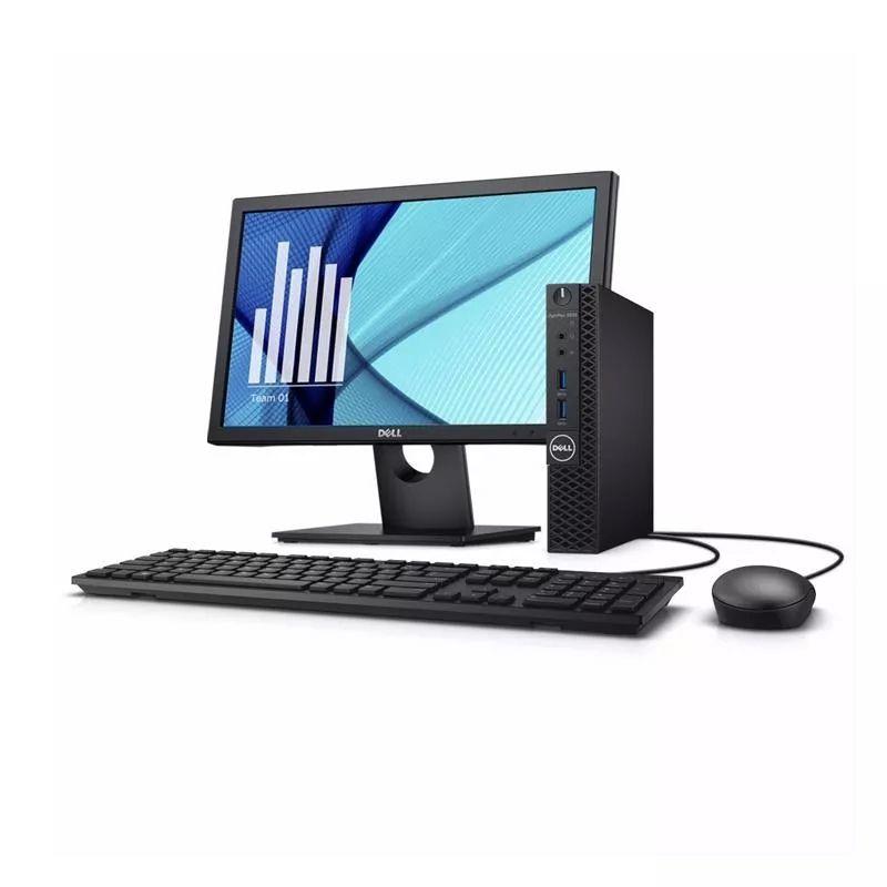 """Computador Dell OptiPlex 3060 Micro - Intel Core i3 8ªG, 8GB, SSD 120GB + HD 500GB, Monitor 18.5"""", Teclado e Mouse"""