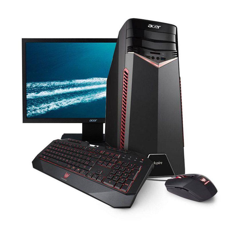 Computador Gamer Acer Aspire GX-783-BR11 – Core i7,  16GB, 1060 6GB + Kit Gamer + Monitor Acer V246HL
