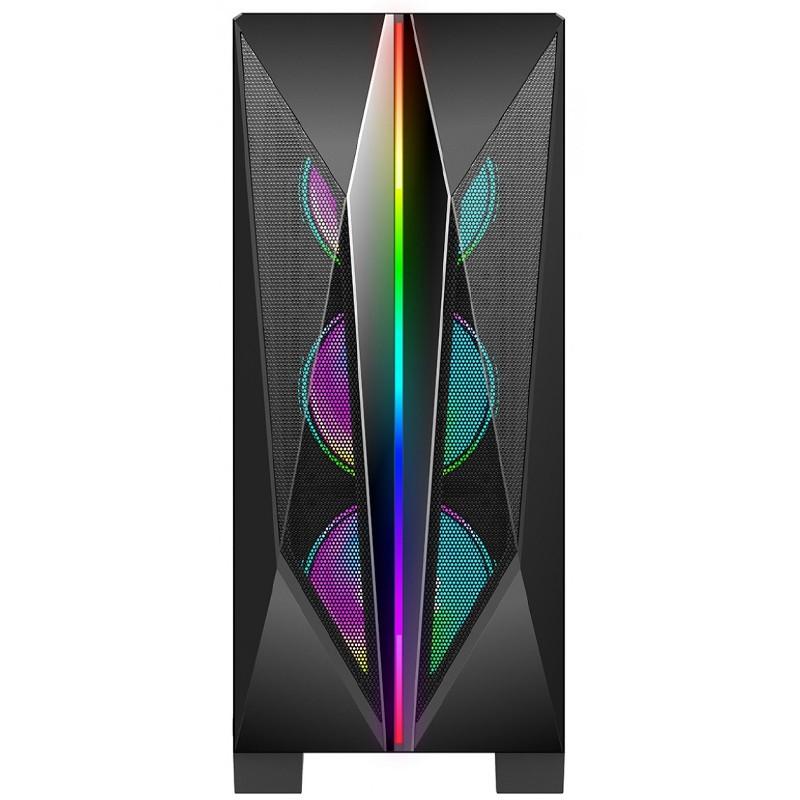 Computador Gamer - AMD Ryzen 5600X, Memória 16GB 3000MHz, SSD 480GB, Radeon RX580 8GB, Fonte 600W 80-Plus