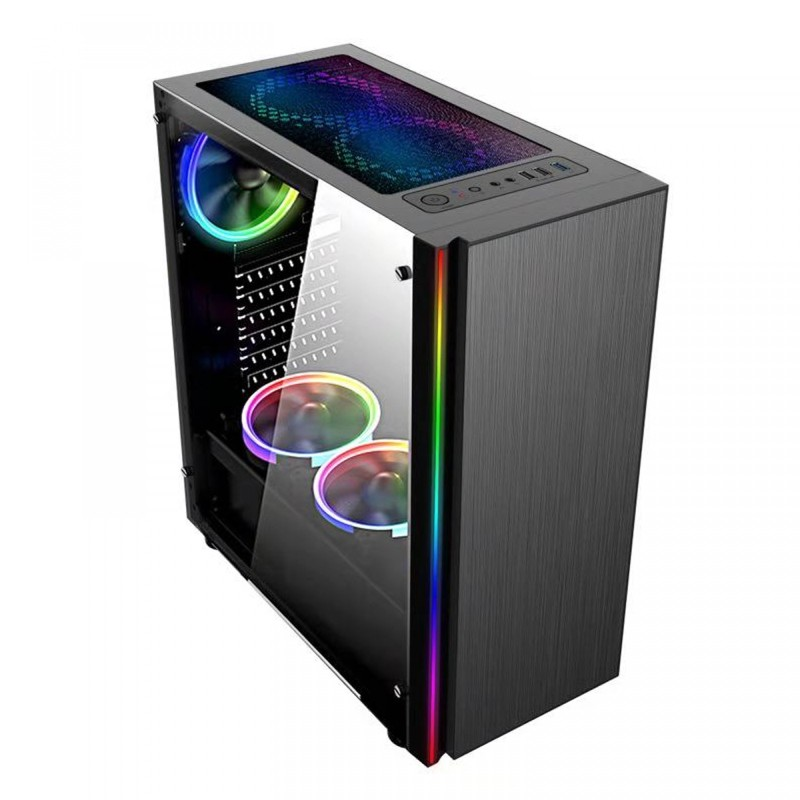 Computador Gamer - Intel Core i3-10100F 10ªG, 8GB 2666Mhz, HD de 1TB, Placa de Vídeo GTX1050Ti 4GB, Fonte 500W Real