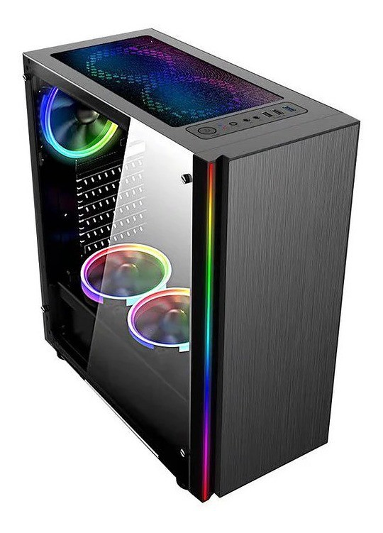 Computador Gamer - Intel Core i5-10400F 10ª Geração, 8GB 3000Mhz, HD de 1TB, Placa de Vídeo RX570 8GB, Fonte 500W Real