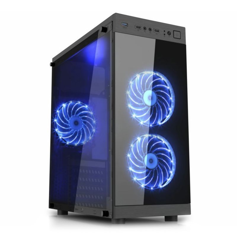 Computador Gamer - Intel Core i5-7400 de 7ª Geração, 8GB DDR4, HD de 2TB, Placa de Vídeo GTX1050, Fonte 650W