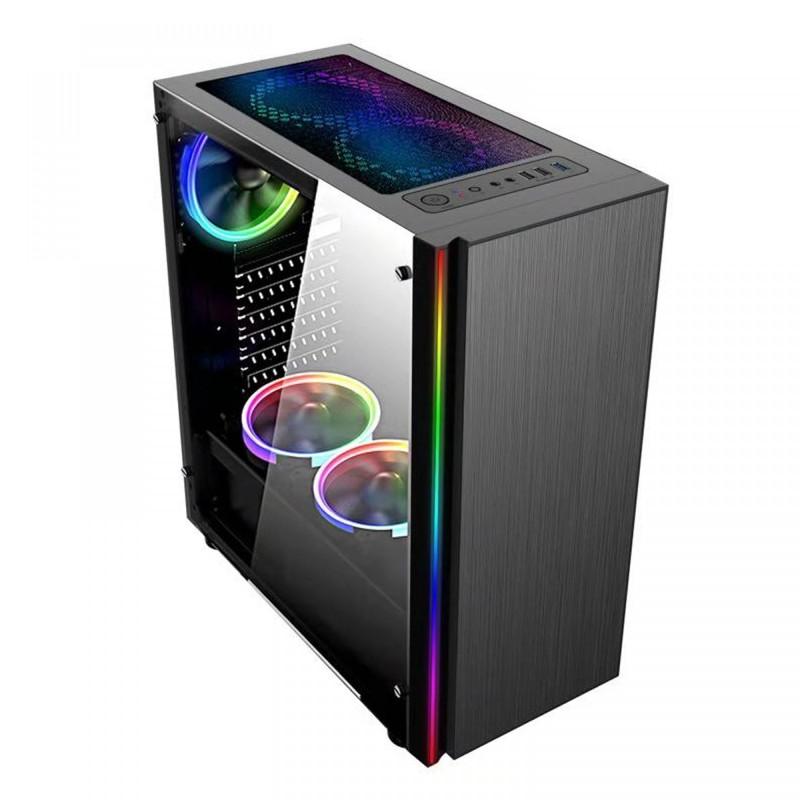 Computador Gamer Ryzen 5 3400G, Memória 8GB, HD 1TB, Geforce GTX1050ti 4GB, Fonte 500W 80-Plus