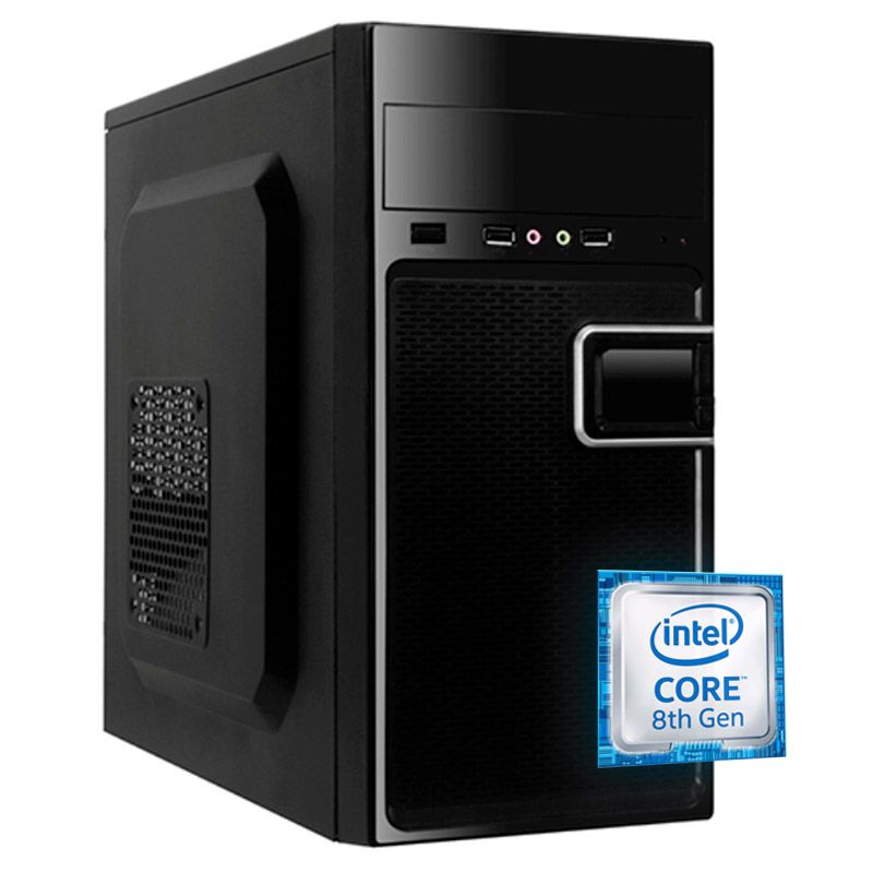 Computador Home Office - Core i3 9ª Geração Intel, HD 1TB, 8GB, Geforce 1GB,, Gabinete Atx