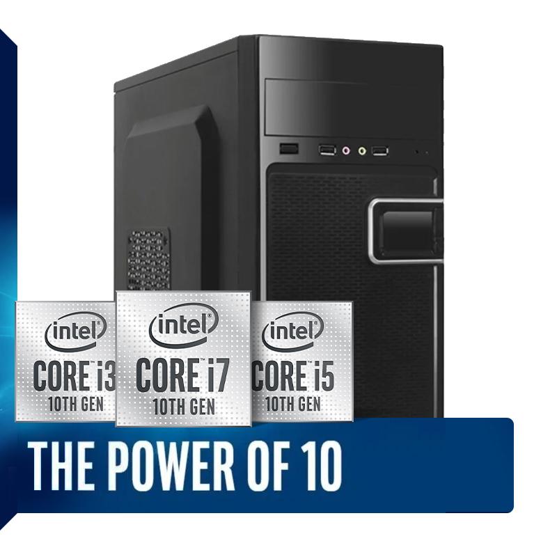 Computador Home Office Intel Core i3 10ª Geração 10100, SSD 120GB + HD 500GB, 4GB DDR4, Gabinete ATX