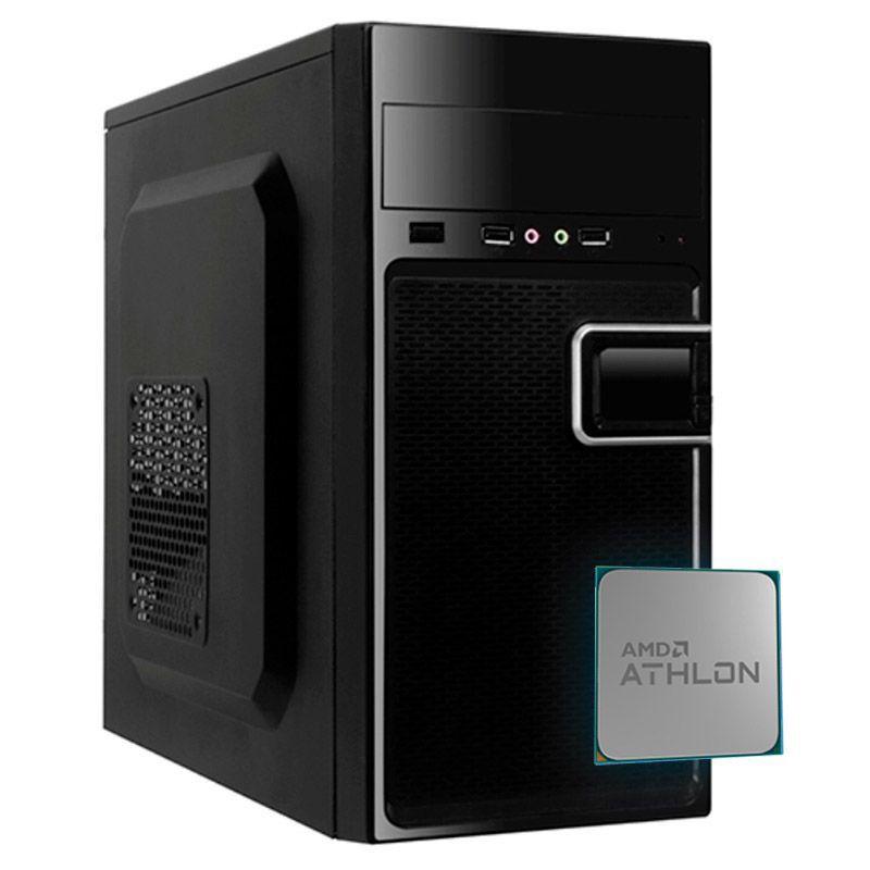 Computador Office Basic - Dual Core E1-2100, Memória de 4GB, SSD 240GB, Gabinete ATX