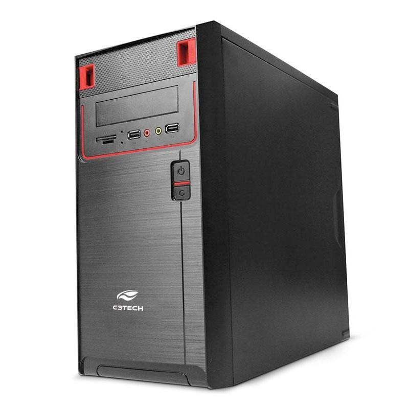 Computador Office Basic - Intel Dual Core 2.41Ghz, Memória de 4GB, SSD 120GB, Gabinete ATX + Monitor LED 18.5