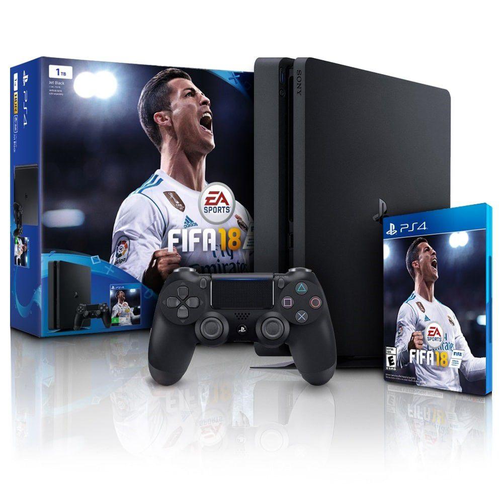 Console Playstation 4 Slim Edição Especial FIFA 18 - HD 1TB, Processador Octa-Core, Controle Dualshock 4 - PS4