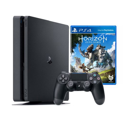 Console Playstation 4 Slim Edição Especial Horizon Zero Dawn  - HD 500GB, Processador Octa-Core, Controle Dualshock 4 + Jogo Horizon Zero Dawn - PS4