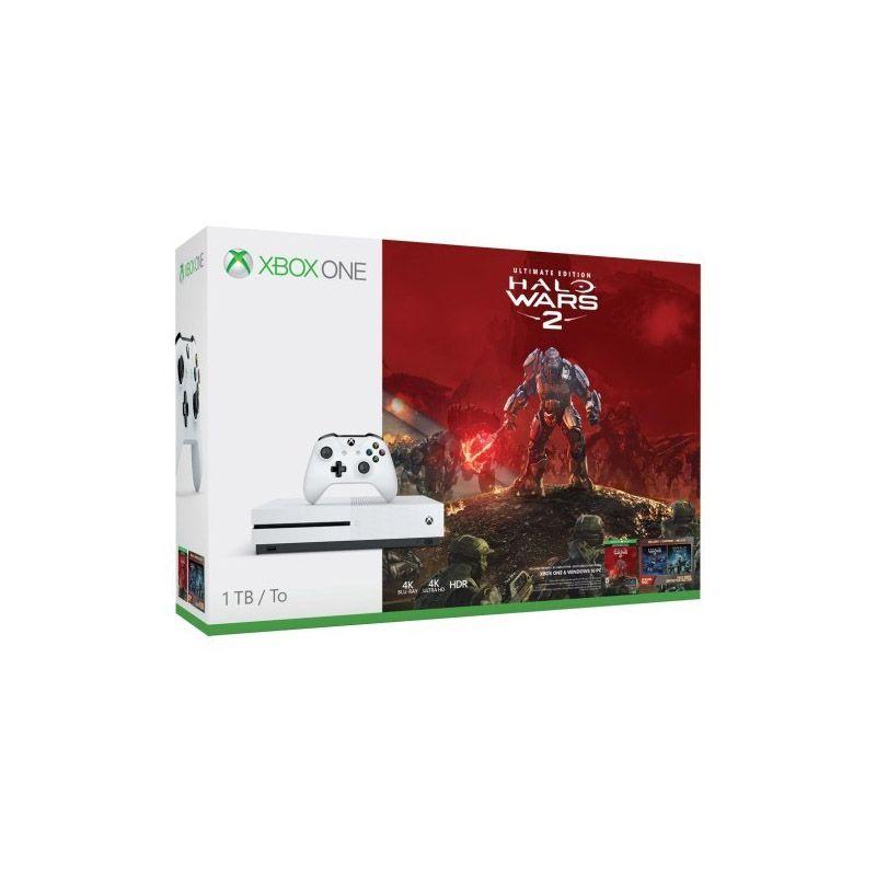 Console Xbox One S 1TB + Halo Wars 2 - 4k, Controle Wireless