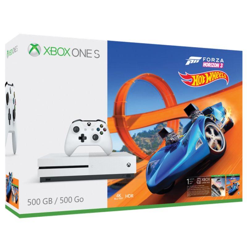 Console Xbox One S 500GB + Forza Horizon 3 + Hot Wheels - 4k, Controle Wireless